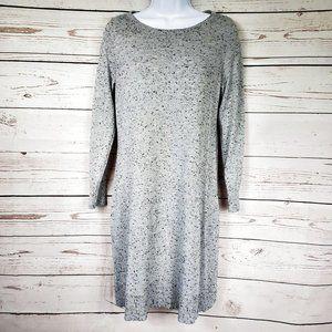 Loft Petites gray open back sweater dress Women's